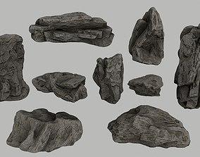 3D asset realtime cliff rocks