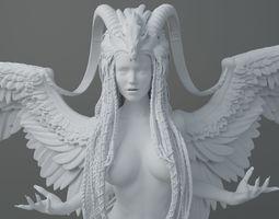 3D printable model HD Horns headdress girl 003