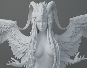 3D printable model HD Horns headdress girl 003