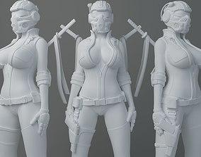 3D printable model HD Female warrior