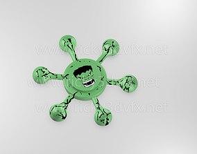 3D model game-ready Hulk Spinner