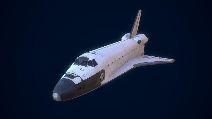 space shuttle 3d model obj mtl 3ds fbx dae 1