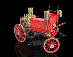 3d printable model shand mason steam powered fire engine