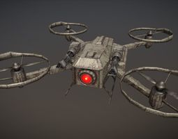 Apocalyptic Drone 3D asset