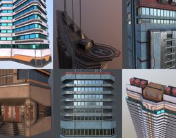3D Sci-Fi Buildings