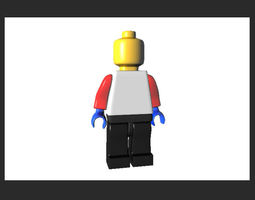3D asset Lego Man mini fig AAA