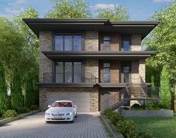 3D House Exterior Scene 04