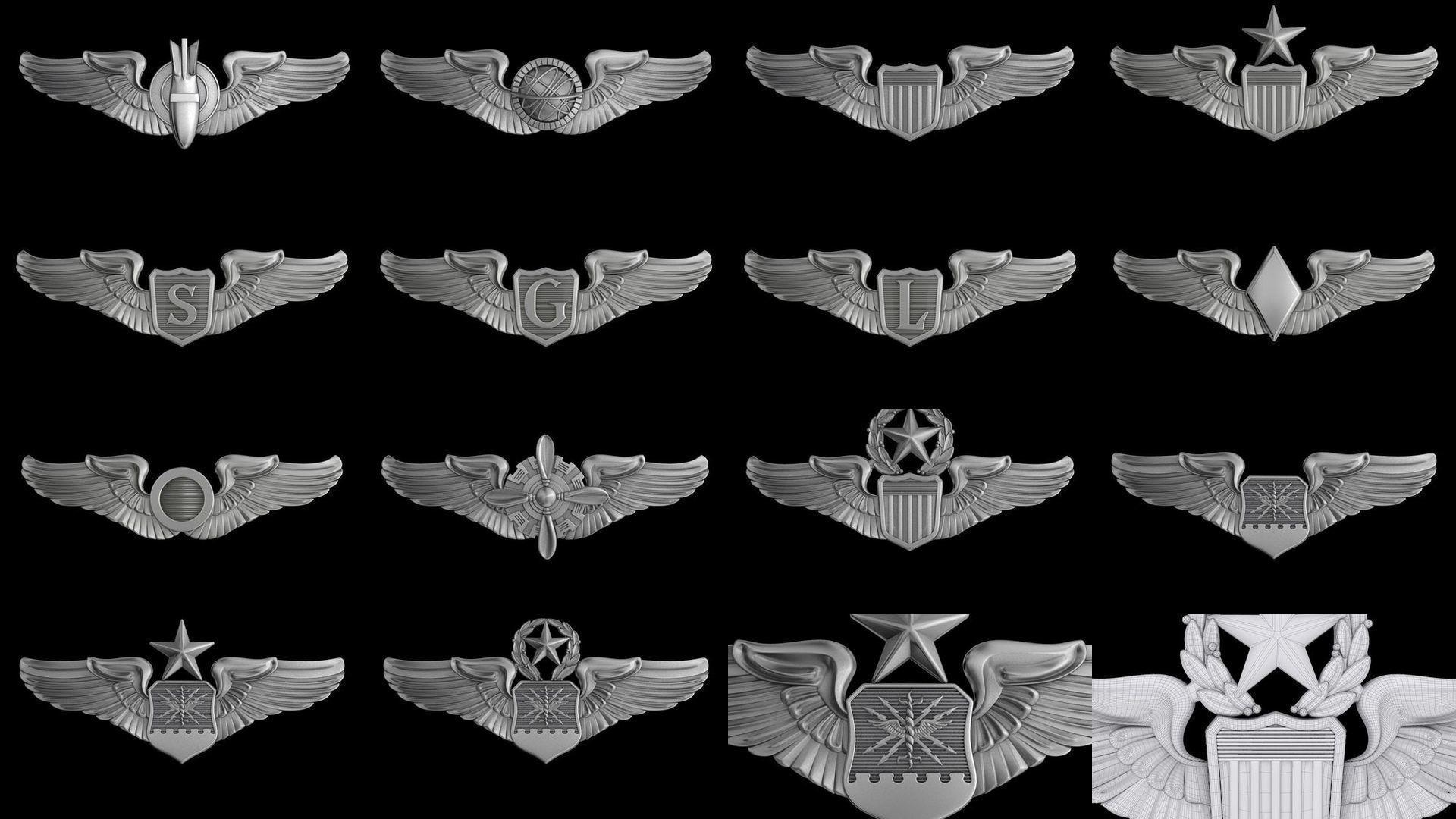 USAF Wings Badge set