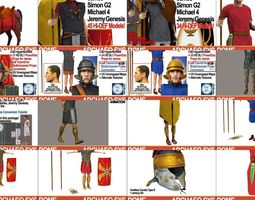 3D model Ancient Roman Soldiers Collection