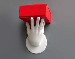 3D printable model Hand shelf holder