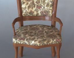 3D Small Vintage Armchair