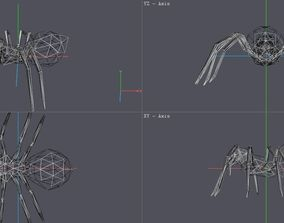 Spider 3D asset low-poly