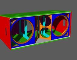 JBL VerTec VT4889 cabinet 3D