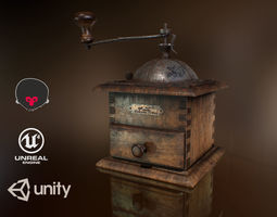 Coffee Mill 3D model animated