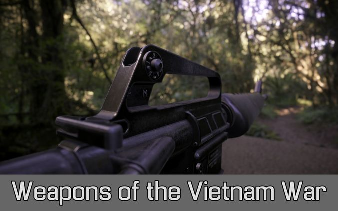 weapons of the vietnam war 3d model fbx tga unitypackage prefab mat 1