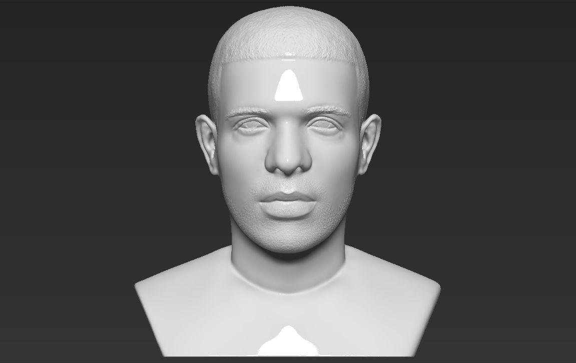 Drake bust 3D printing ready stl obj formats