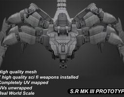 SR MKIII concept robot 3D model