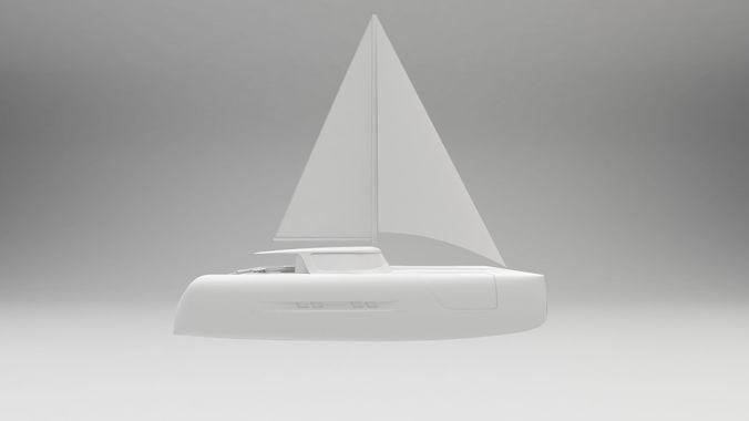 modern sailing catamaran yacht 3d model max obj mtl fbx wire 1