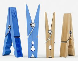 3D Clothespins
