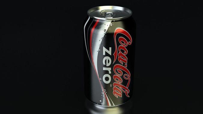 cocacola zero pan 3d model max obj mtl 3ds fbx 1