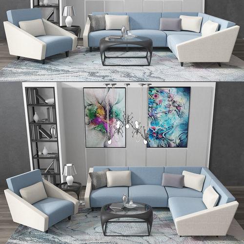 3D model modern sofa set | CGTrader