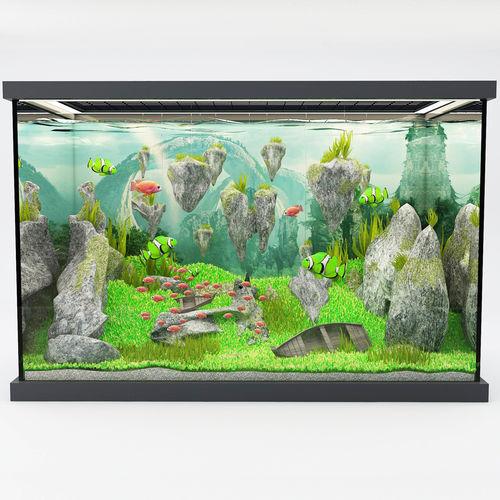 modern aquarium avatar  3d model max obj mtl 3ds fbx stl abc 1