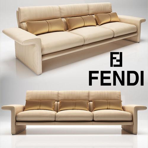 fa18378077ca Fendi Dream Fly Sofa 3D model