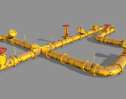 pipe set 3D model