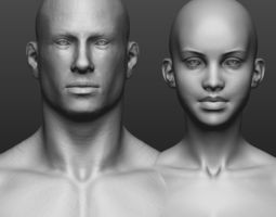3D Hi res male and female body