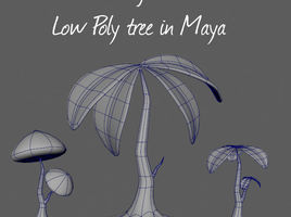 Maya modeling tutorial - low poly tree
