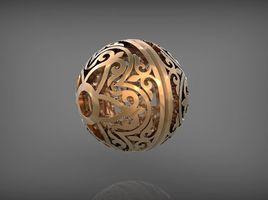 Ornament ball 2. Rhinoceros 3D.