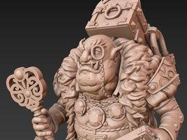 Creating the ogre. Modeling and sculpting in Blender.