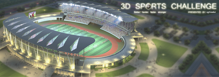 3D Sports Challenge: Kick In 3D Models To Score Great Trophies