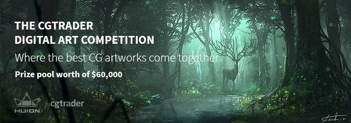 CGTrader's digital art competition