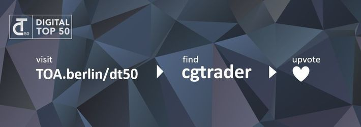 CGTrader is nominated for the Digital Top 50 Awards!