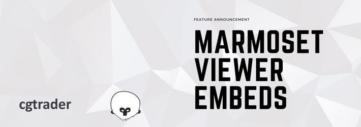 CGTrader now supports Marmoset Viewer embeds