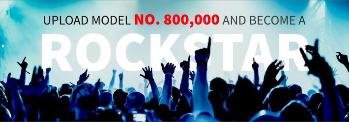 Upload CGTrader's 800,000th 3D Model…and Become a Rock Star!
